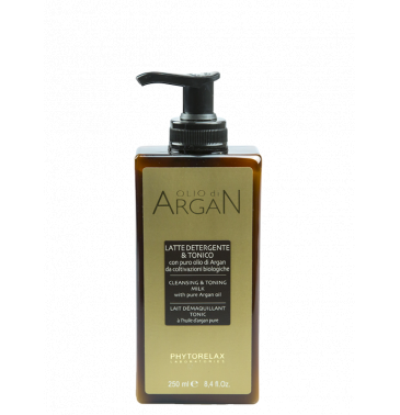 ARGAN OIL CLEANSING & TONIC MILK, 250ml